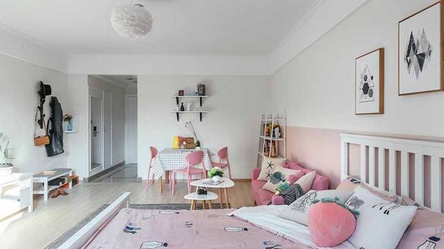 充满少女心的单身小公寓设计 给人一种很休闲温馨的家